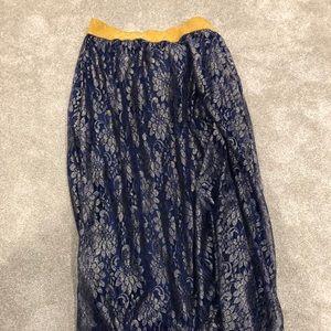 LuLaRoe lace skirt XL